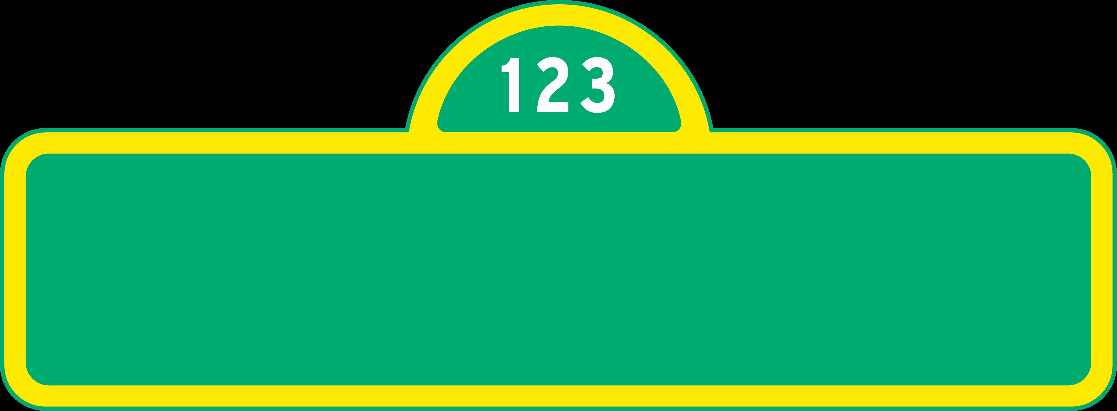 Sesame Street Sign Template | Template Modern Design - Free Printable Sesame Street Sign Template