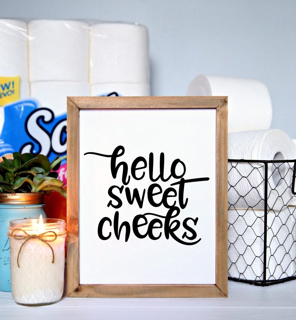 Set Of 4 Printable Bathroom Signs - Happy-Go-Lucky - Free Funny Bathroom Printables