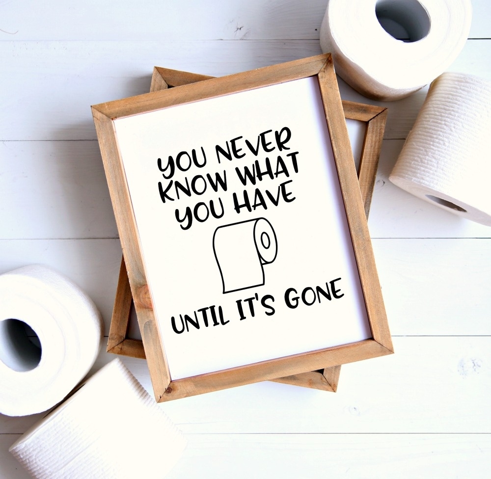Set Of 4 Printable Bathroom Signs - Happy-Go-Lucky - Free Printable Funny Signs