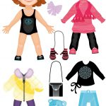 Set Of Winter Clothes For A Cute Girl Paper Doll From Dress Up Paper   Free Printable Dress Up Paper Dolls