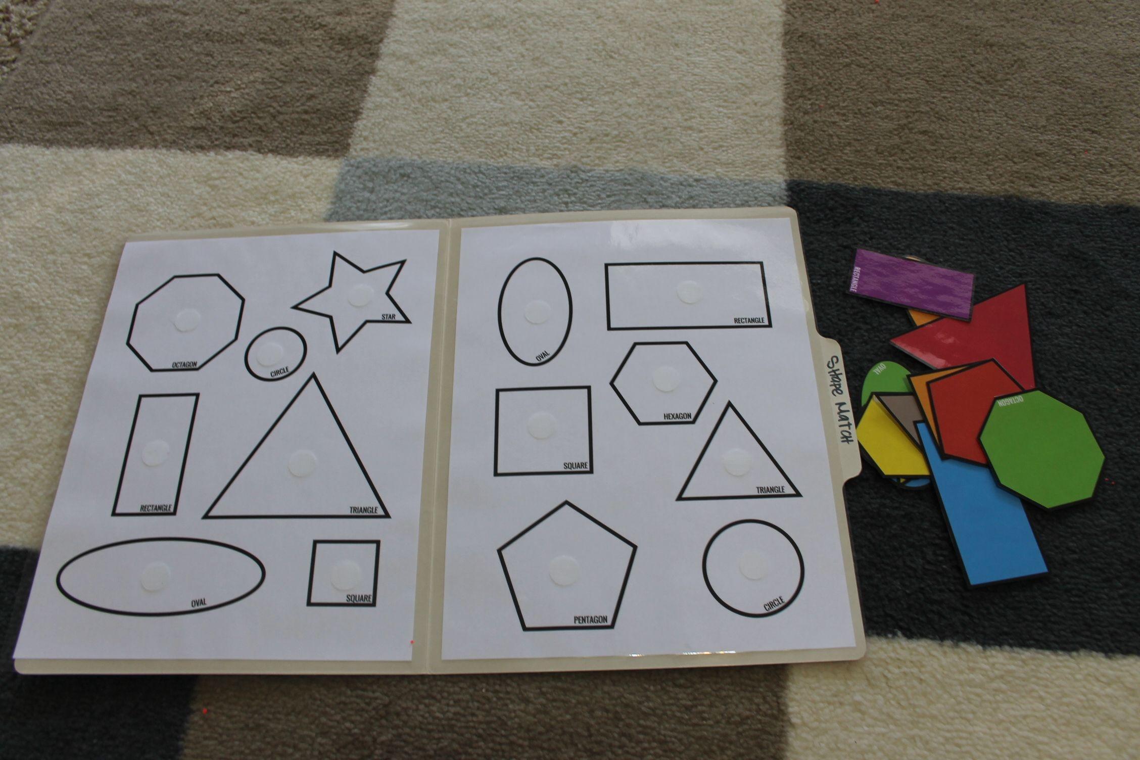 Shape-Match-Toddler-Pre-K-File-Folder-Game-Open | Kiddios - Free Printable File Folder Games For Preschool
