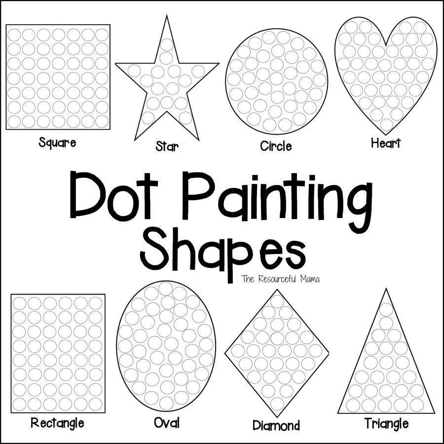 Shapes Dot Painting {Free Printable}   Anger Management   Dot - Free Printable Fine Motor Skills Worksheets