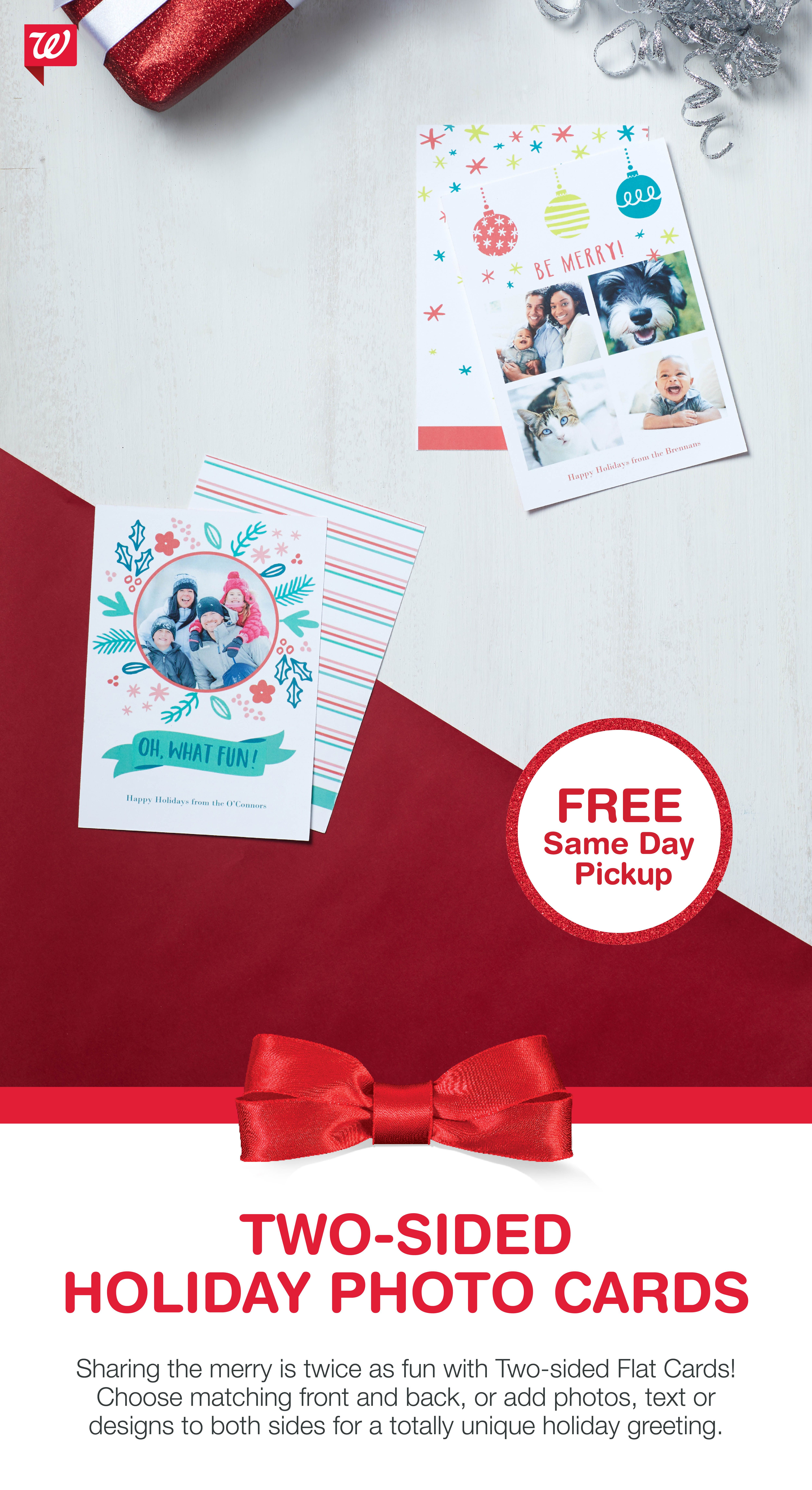 Share The Merry With Two-Sided Flat Cards! Get It Today With Free - Free Printable Flat Christmas Cards