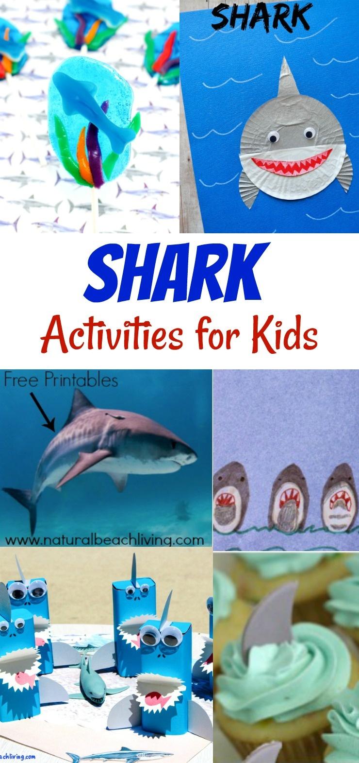 Shark Activities For Kids - Free Shark Printables - Natural Beach Living - Free Shark Printables