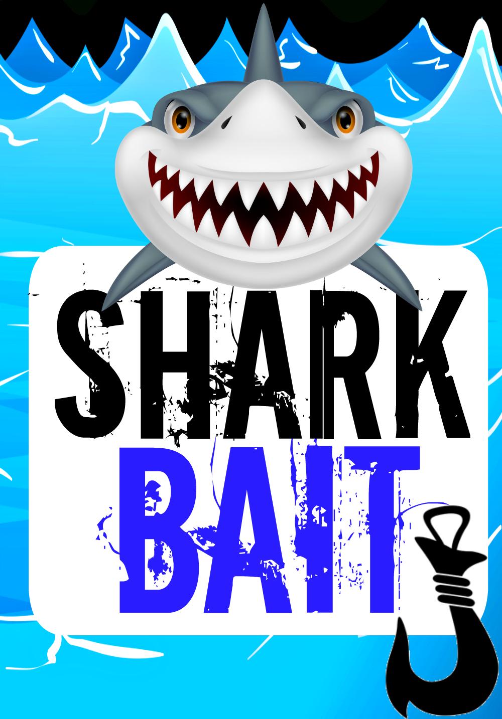 Shark Pool Party - Free Printable Food Labels - Free Shark Printables