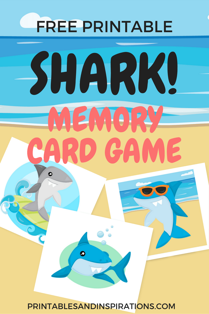 Shark Printables! Free Planners, Game Cards And Invitation! | Free - Free Shark Printables