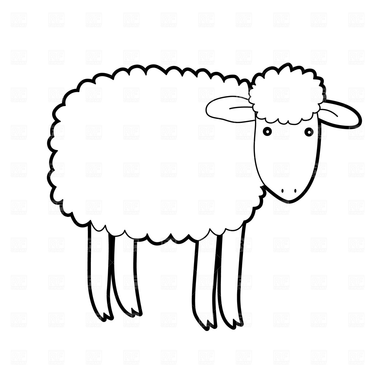 Sheep Outline   Free Download Best Sheep Outline On Clipartmag - Free Printable Pictures Of Sheep