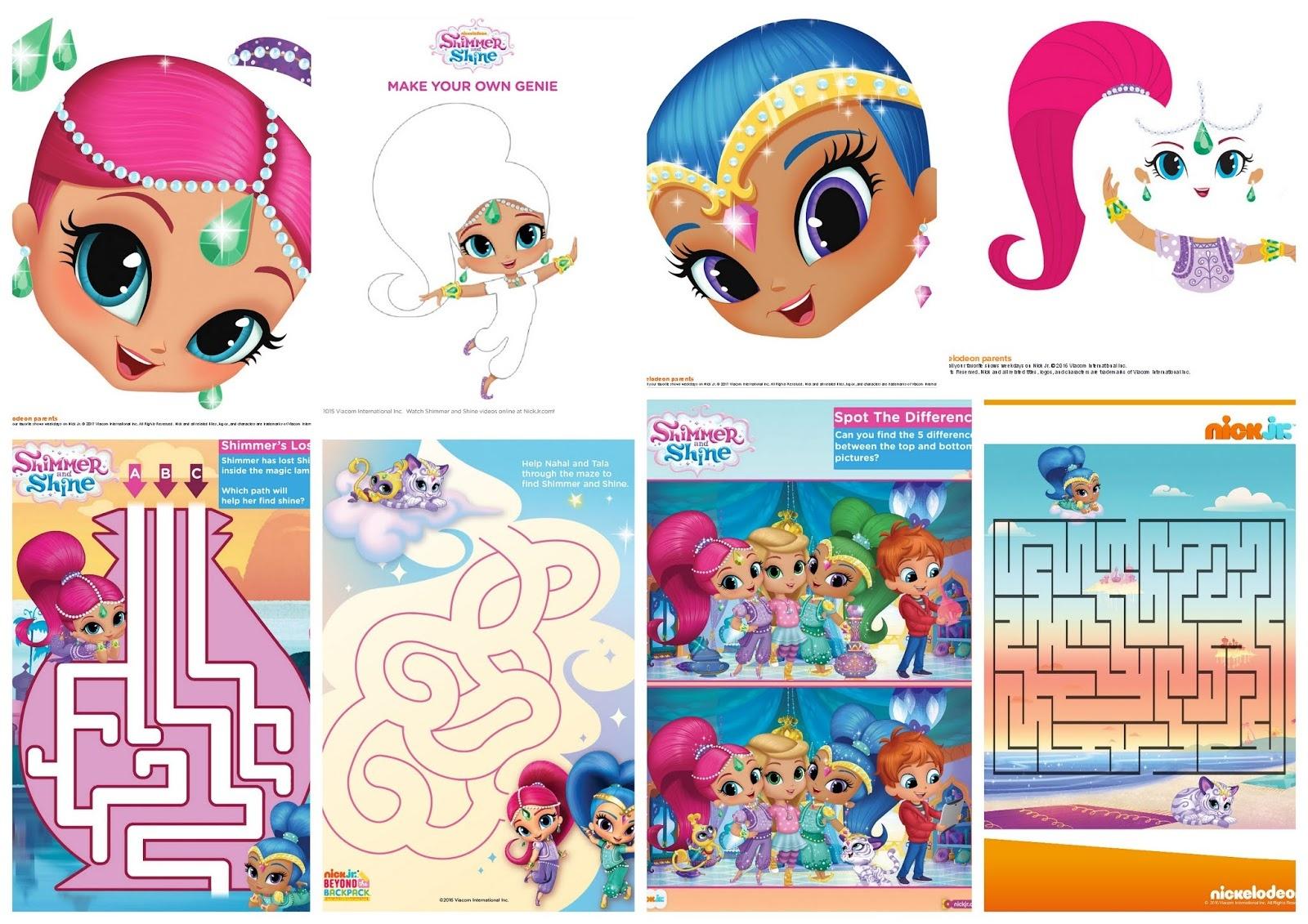 Shimmer And Shine Free Printable Nickelodeon Activity Book. - Oh My - Shimmer And Shine Free Printables