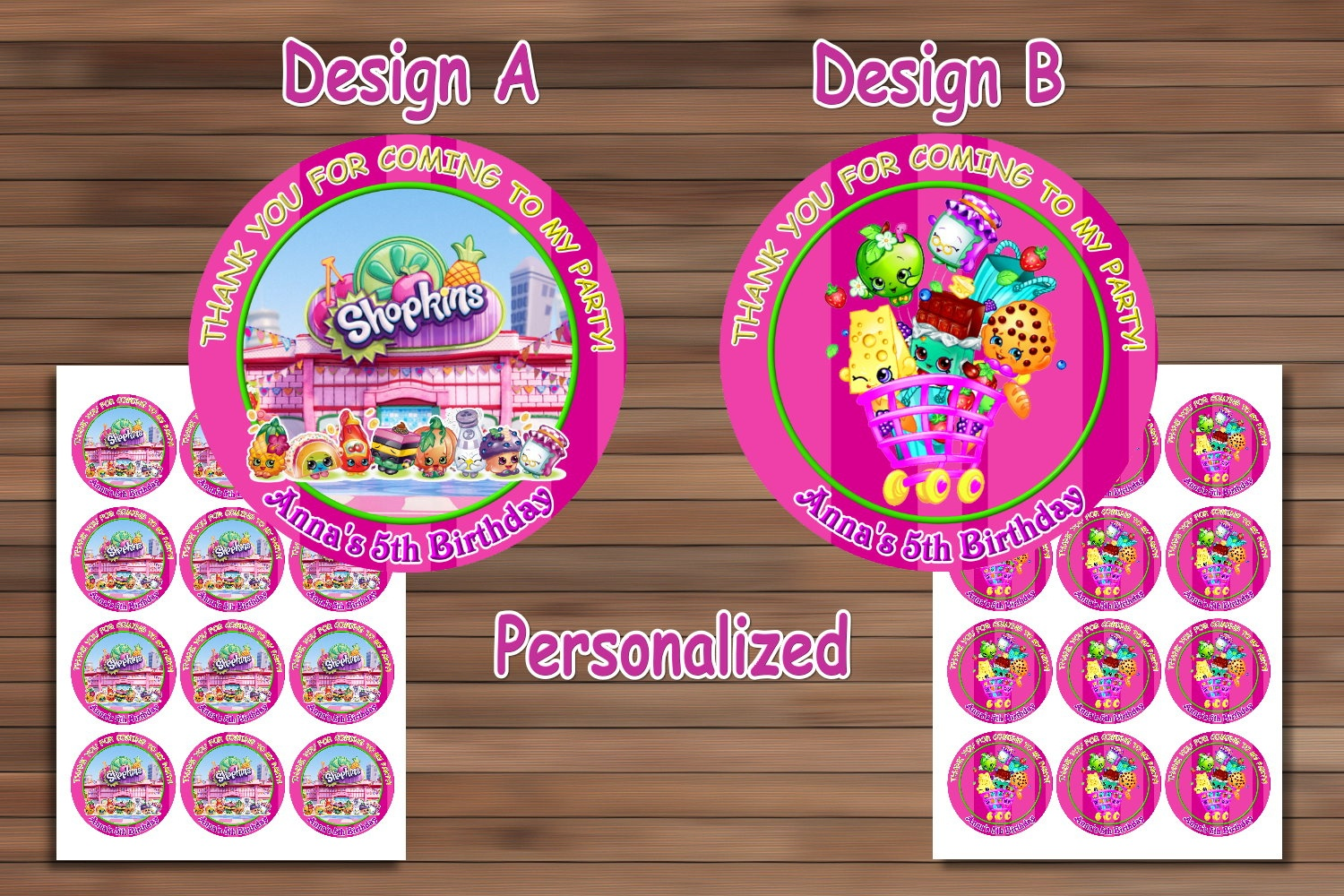 Shopkins Birthday Party, Shopkins Birthdaymagianrainbow On Zibbet - Shopkins Thank You Cards Free Printable