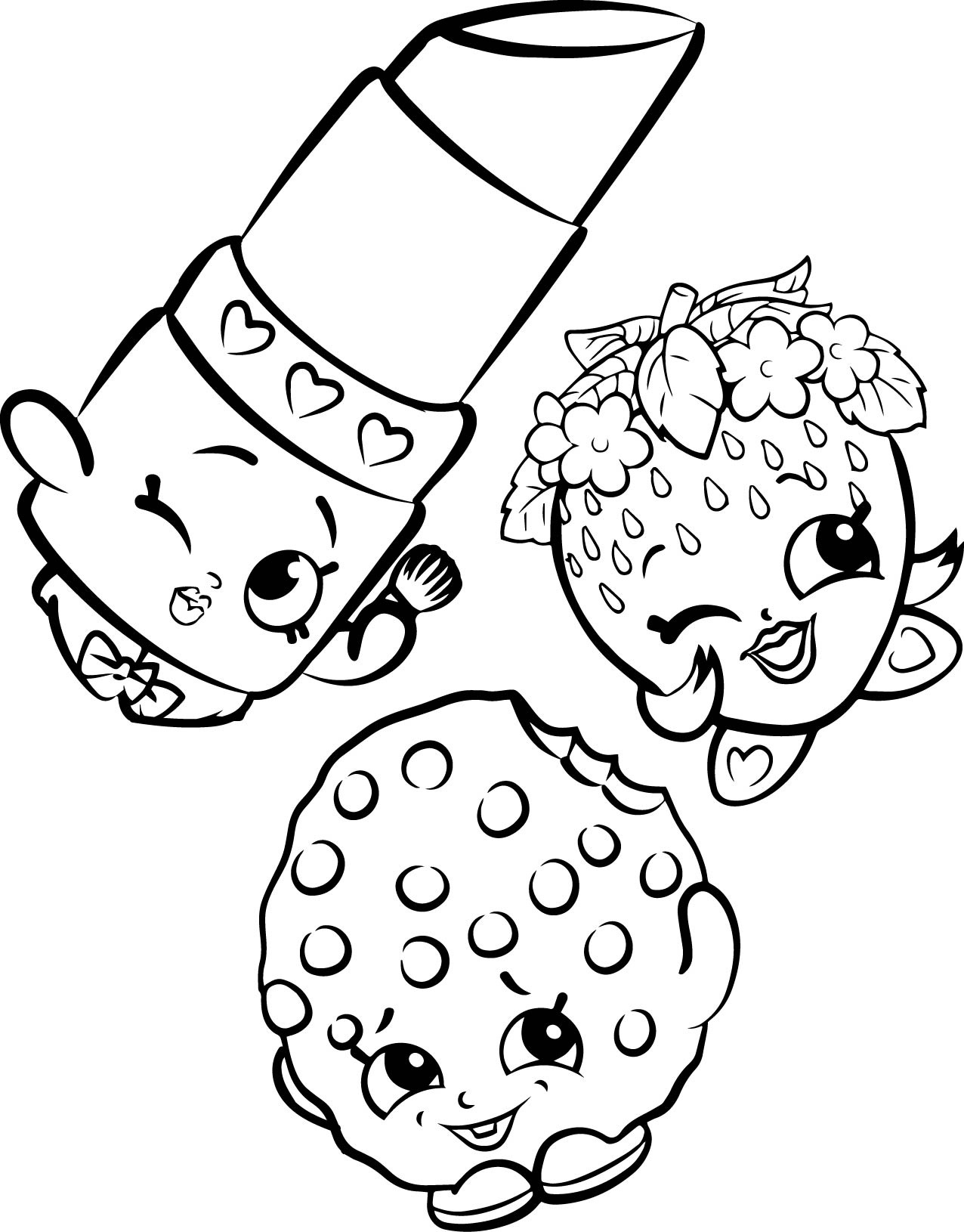 Shopkins Coloring Pages - Best Coloring Pages For Kids - Shopkins Coloring Pages Printable Free