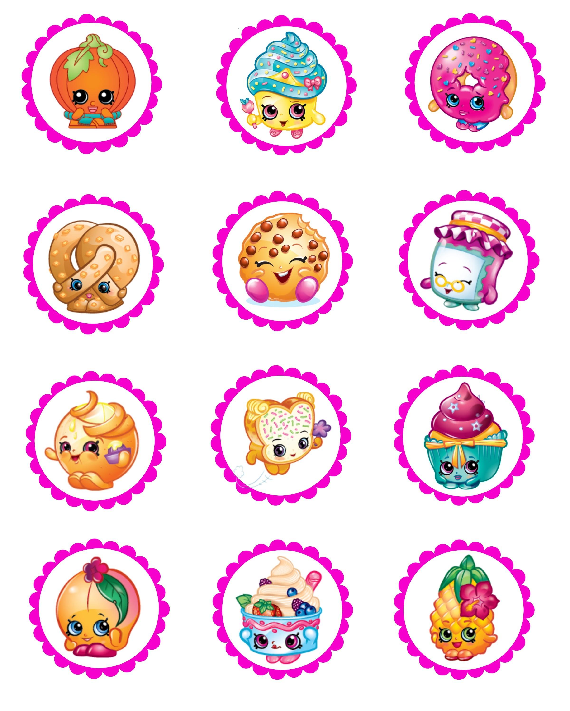 Shopkins Cupcake Toppers Free Printable - Design Templates - Shopkins Free Printables