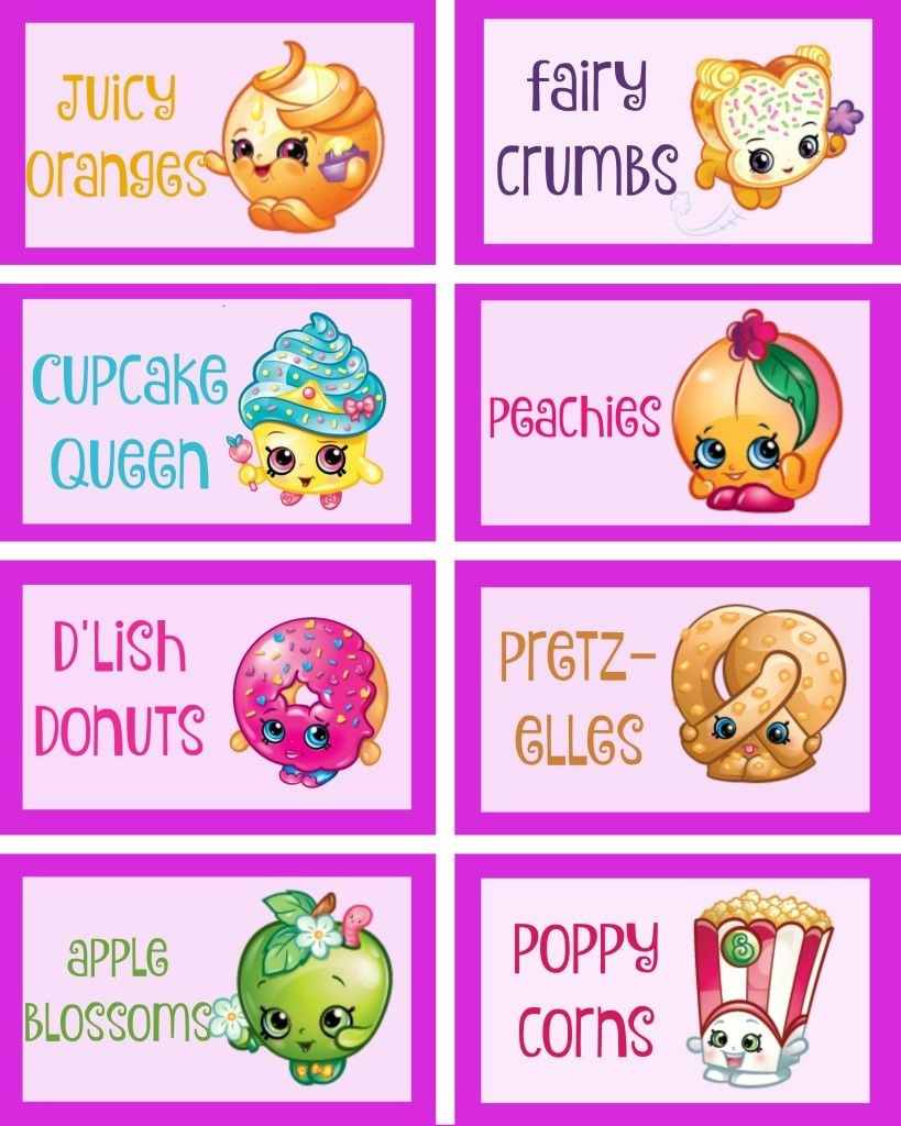 Shopkins Food Labels Via Mandy's Party Ideas | Free Shopkins - Shopkins Free Printables