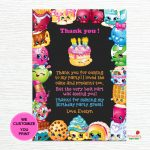 Shopkins Thank You Cards Shopkins Birthday Thank You Notes | Etsy   Shopkins Thank You Cards Free Printable