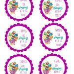 Shopkins Thank You Labels Via Mandy's Party Printables | Free   Shopkins Thank You Cards Free Printable