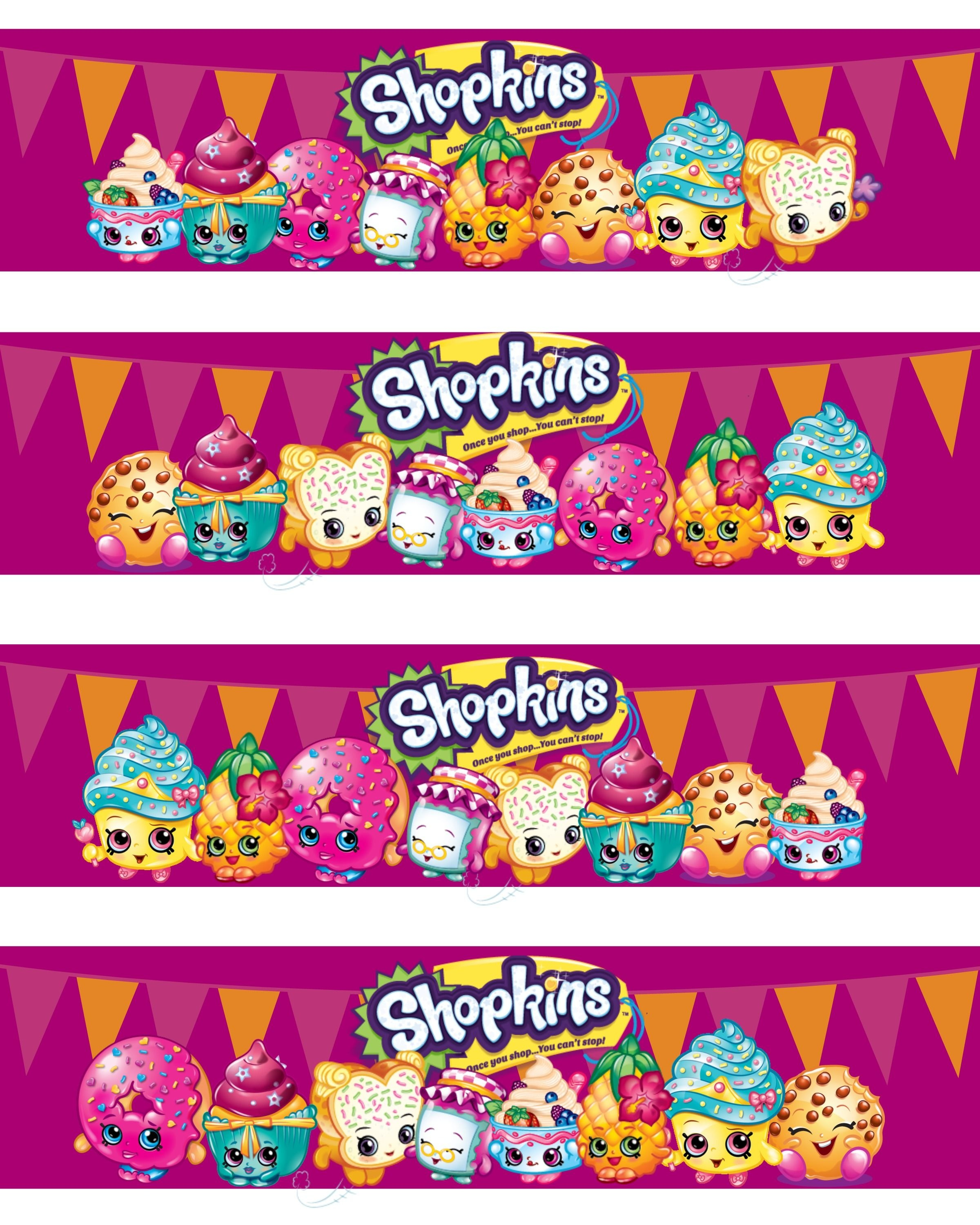 Shopkins Water Bottle Labels | Projects To Try | Party Printables - Free Shopkins Party Printables