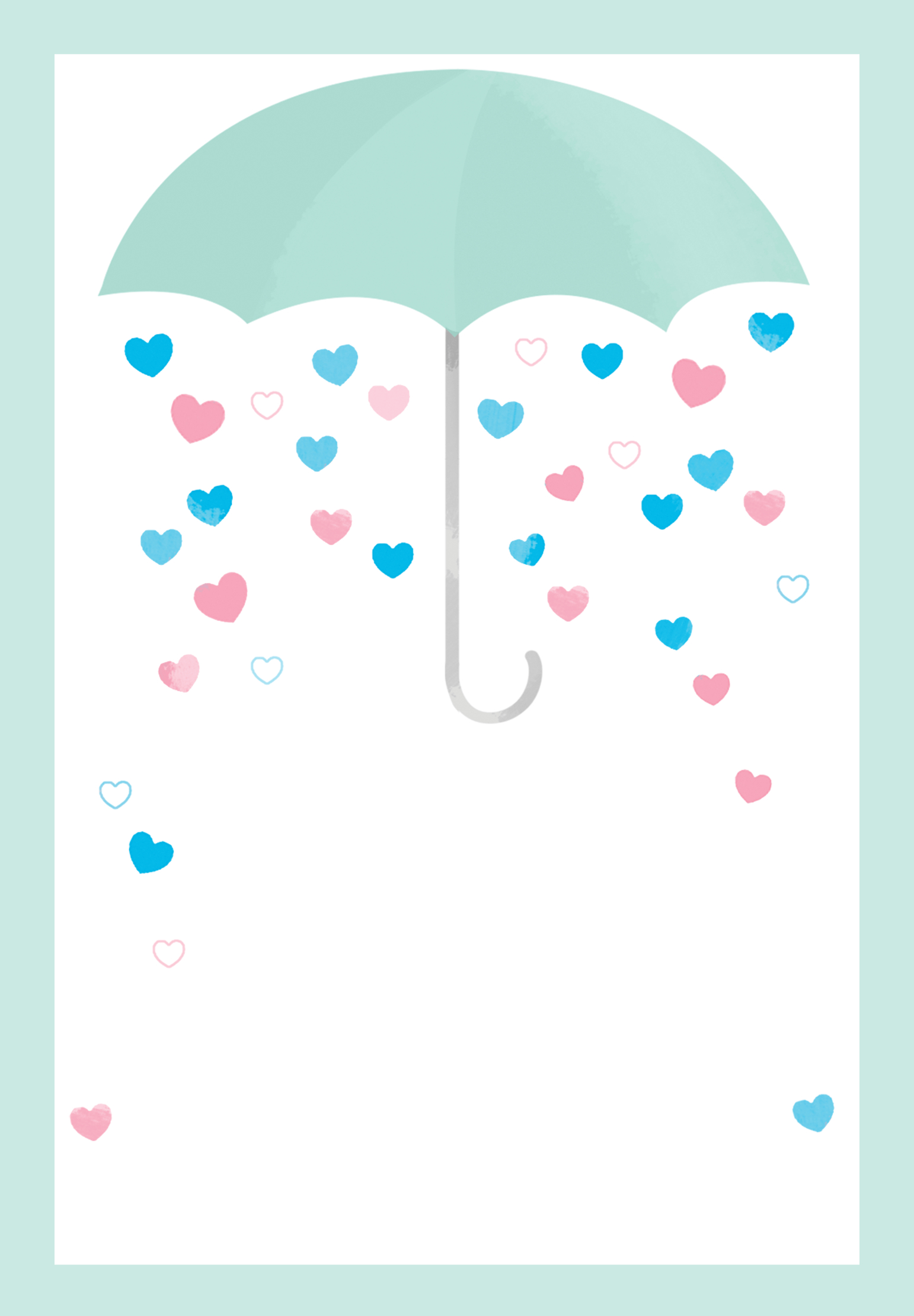 Shower With Love - Free Printable Baby Shower Invitation Template - Free Printable Baby Shower Cards Templates