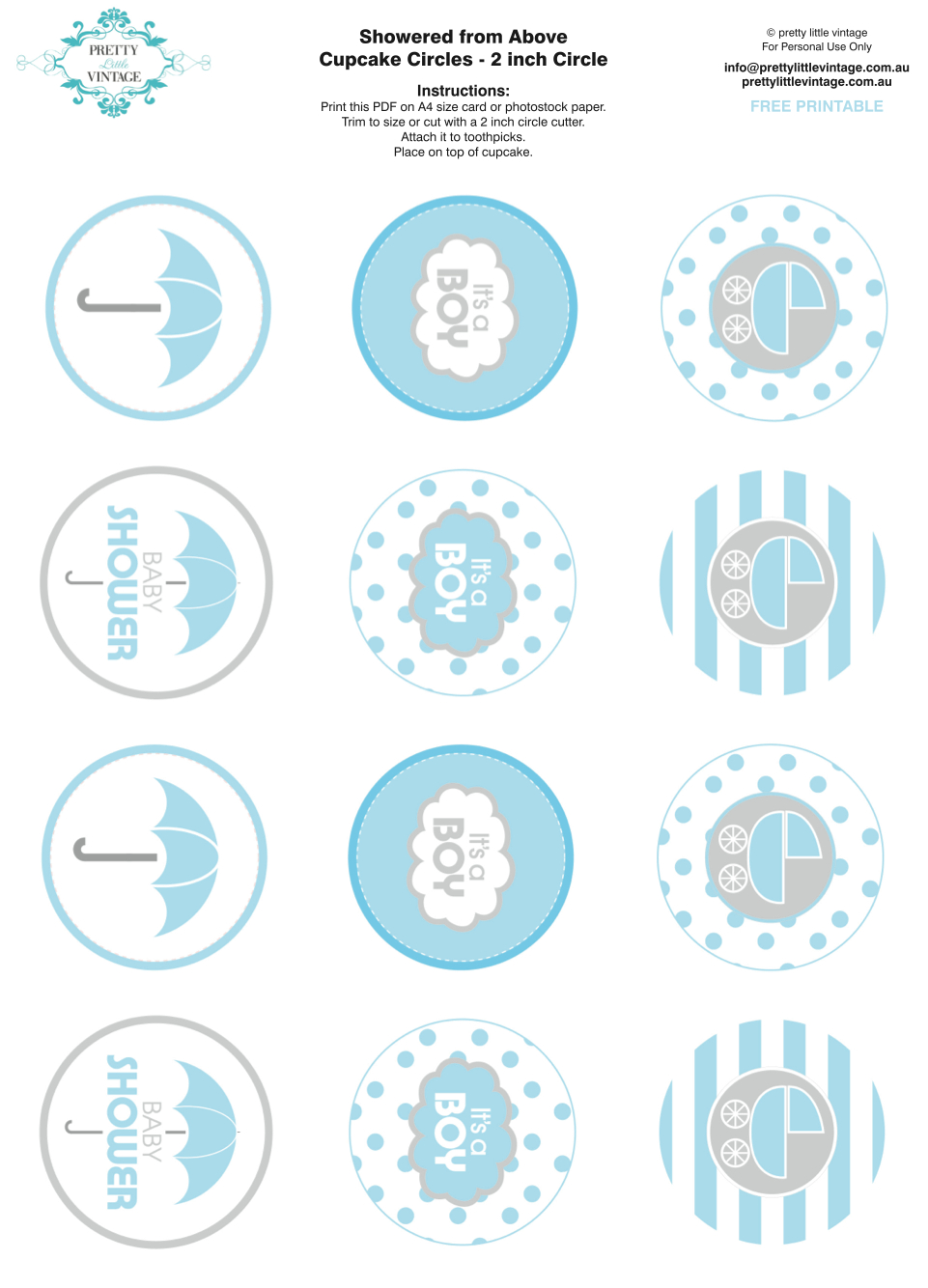 Showered From Above Rain Boy Baby Shower Printables Planning Ideas - Free Printable Baby Shower Favor Tags