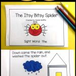 Sight Word Reader   Itsy Bitsy Spider   Bw | It's About Time For   Free Printable Decodable Books For Kindergarten