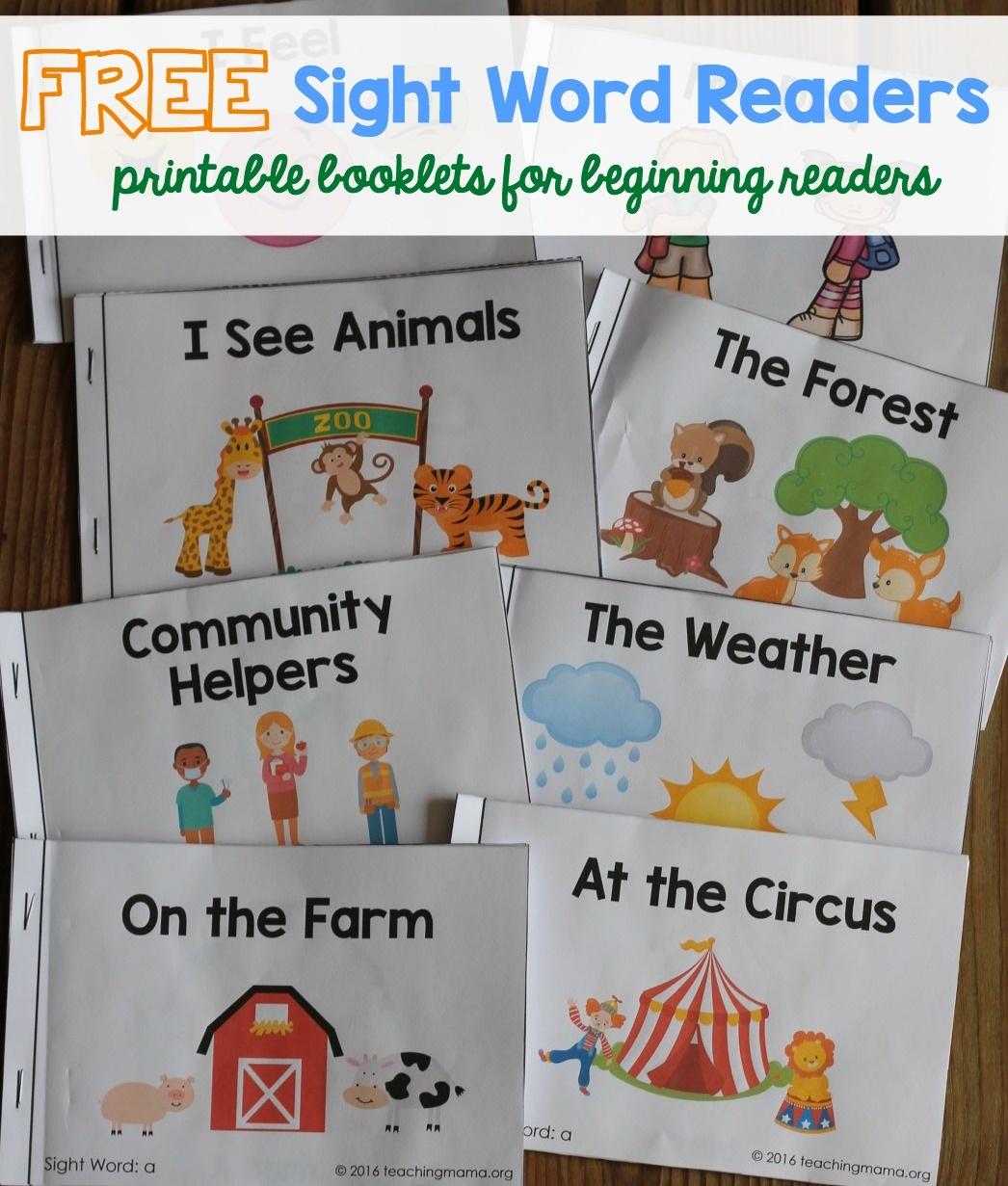 Sight Word Readers - Free Printable Easy Readers For Kindergarten