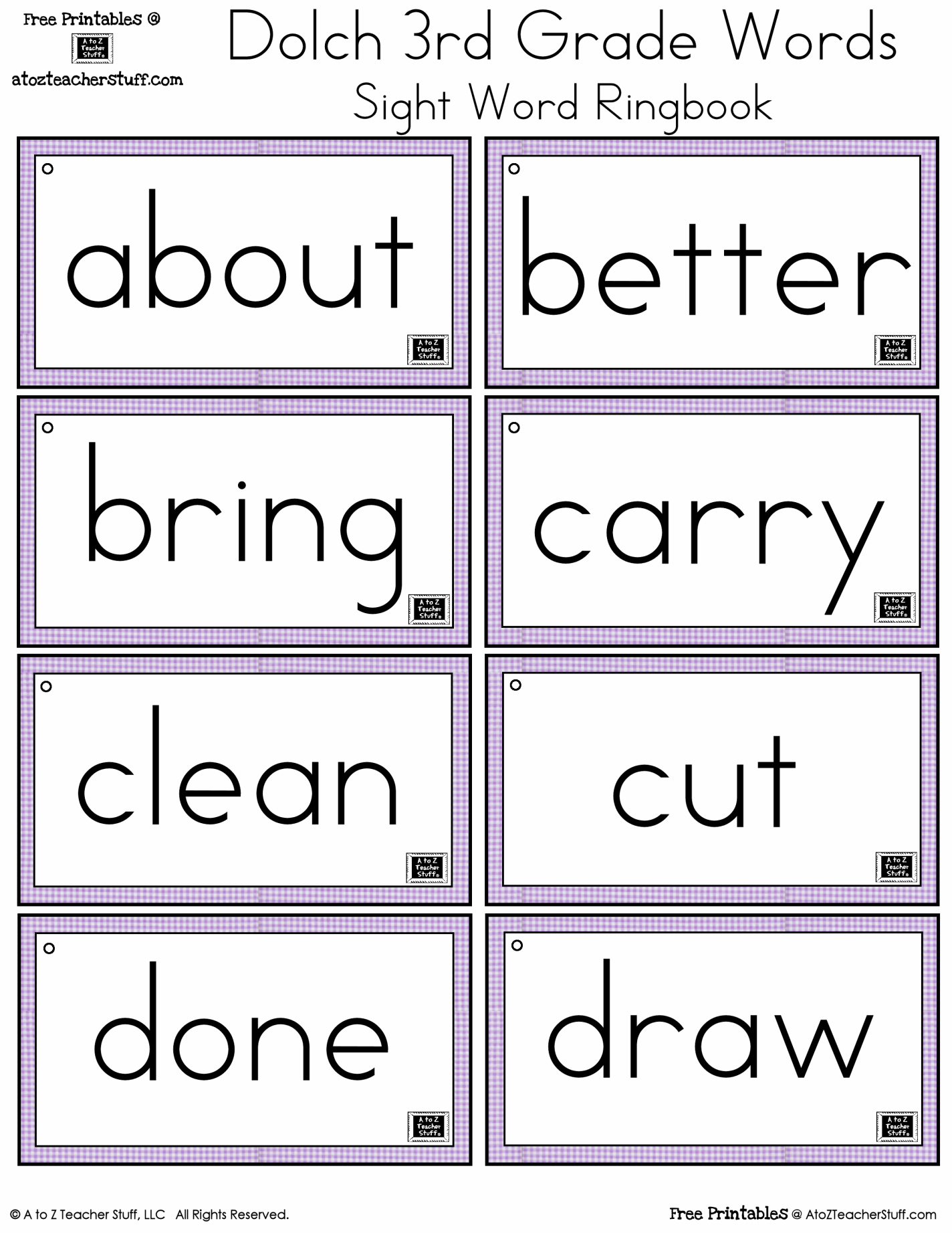 Sight Words Printables And Worksheets | A To Z Teacher Stuff - Free Printable Sight Words