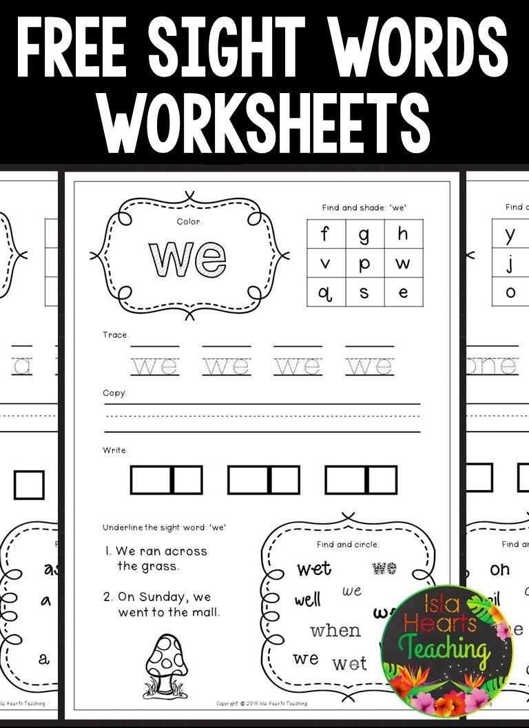 Sight Words | Reading | Sight Word Worksheets, Sight Words - Free Sight Word Printables