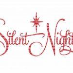 Silent Night Christmas Svg File, Svg Files For Cameo And Cricut   Free Printable Christmas Iron On Transfers