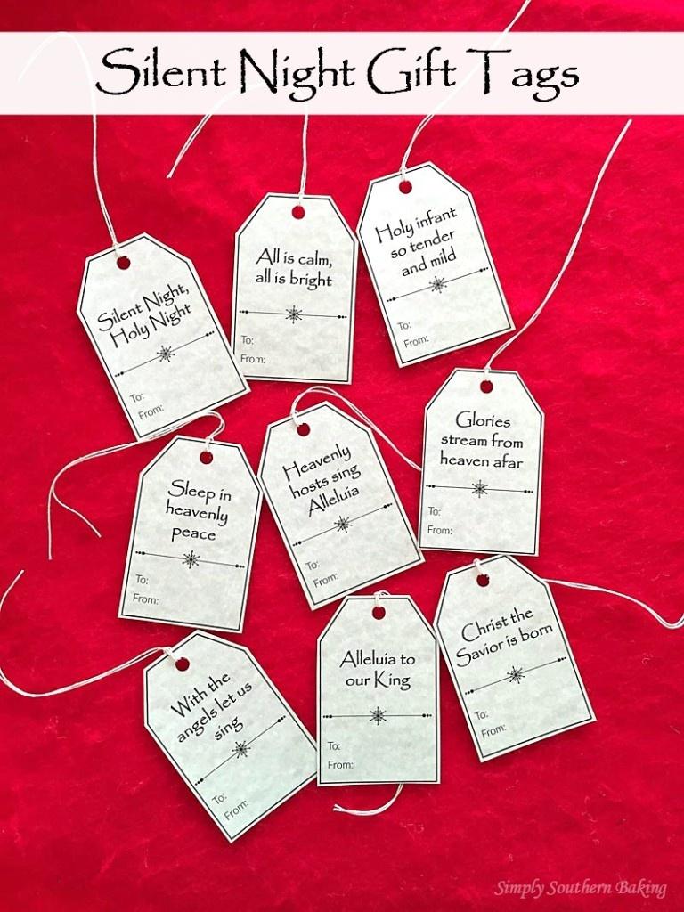 Silent Night Gift Tags Printable | Simply Southern Baking - Free Printable Christian Christmas Gift Tags