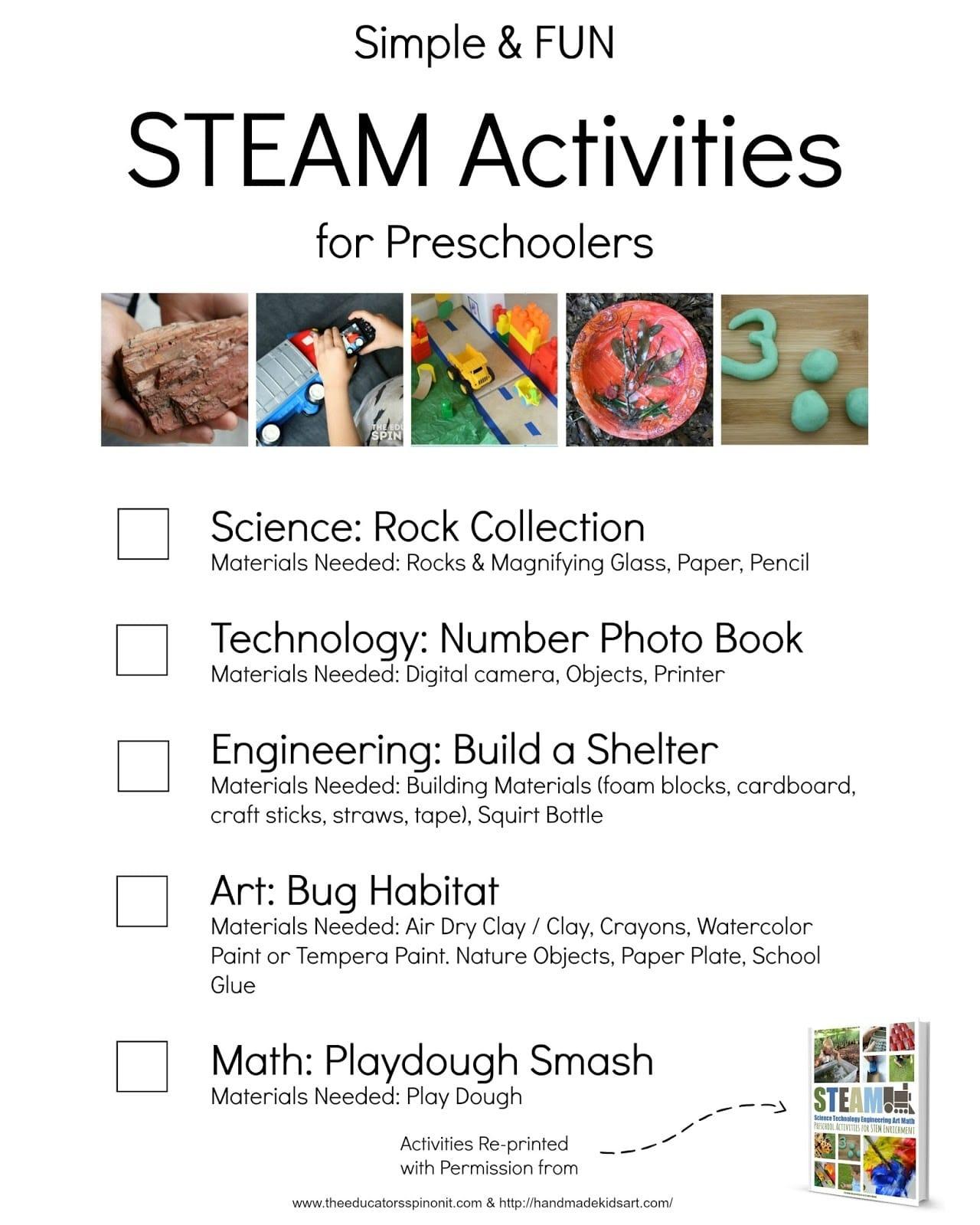 Simple And Fun Steam Activities For Preschoolers - The Educators - Free Printable Stem Activities