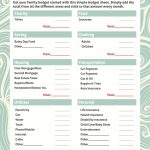 Simple Budget Worksheet Free Printable | For The Home | Budgeting   Household Budget Template Free Printable