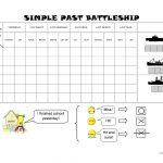 Simple Past Battleship Worksheet   Free Esl Printable Worksheets   Free Printable Battleship Game