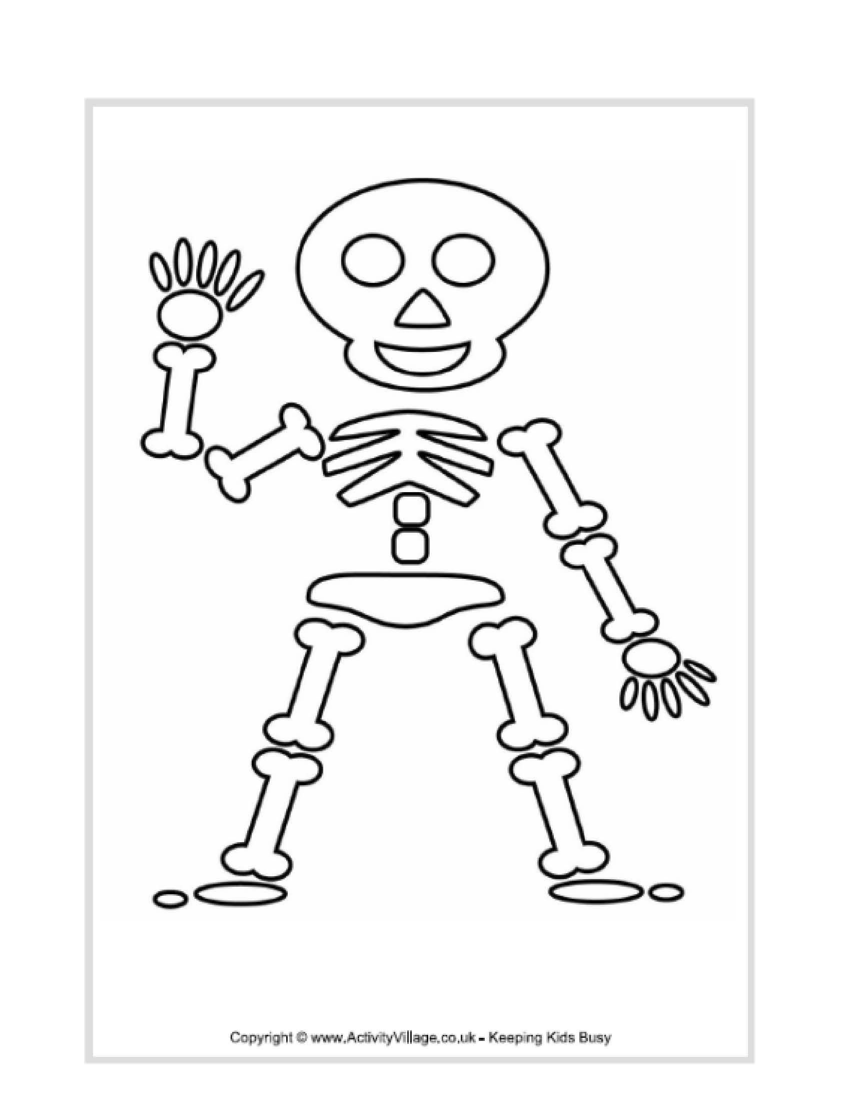 Skeleton Coloring Pages For Preschoolers | Kids Ideas | Halloween - Free Printable Skeleton Coloring Pages