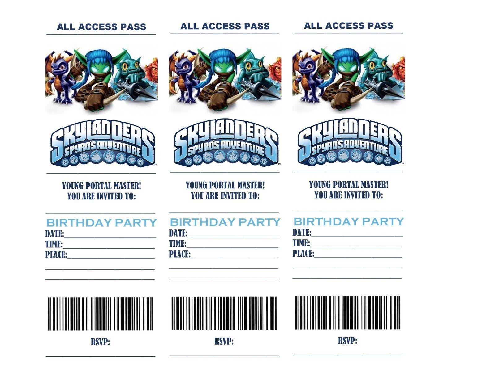 Skylanders Birthday Party Invitations | Life In A Larger Story - Free Printable Skylander Invitations