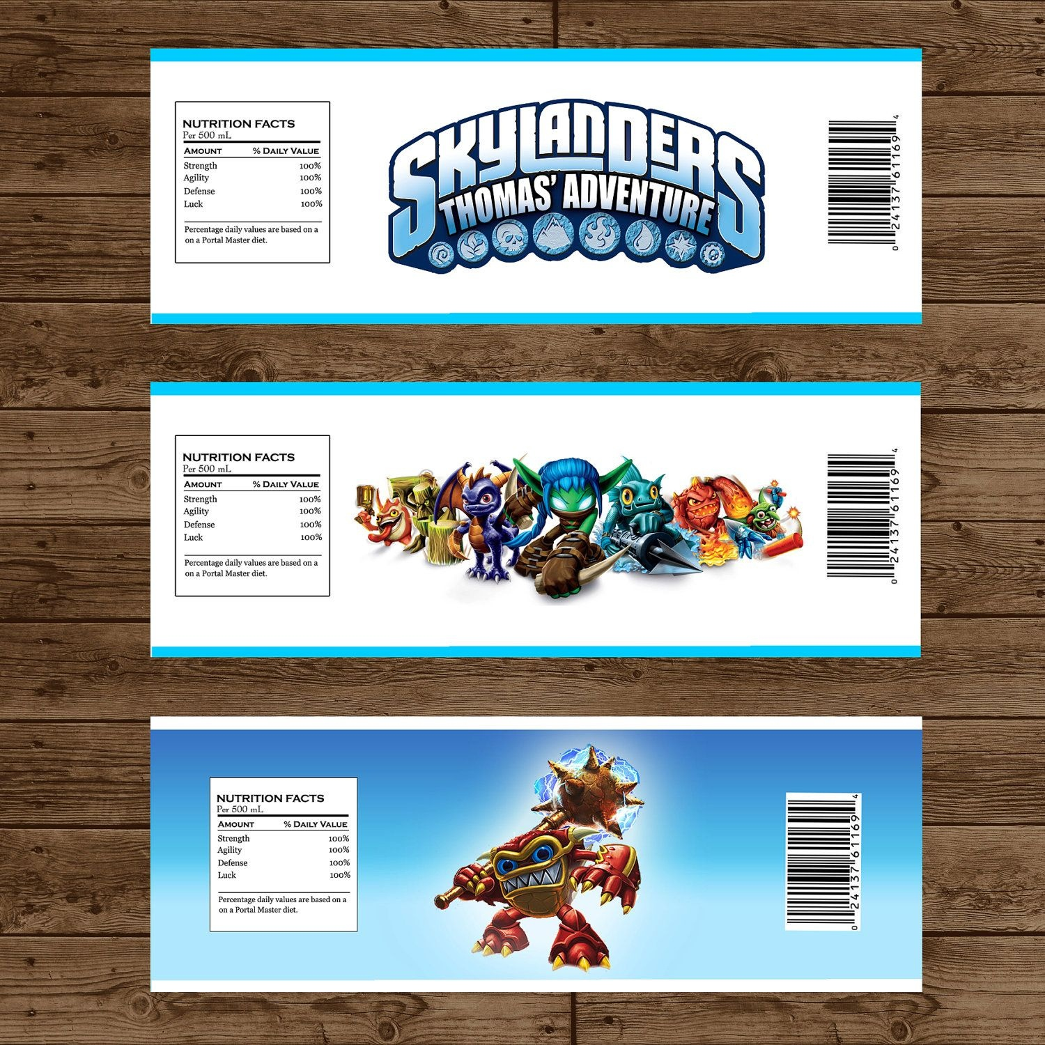 Skylanders Printable Water Bottle Labels - Skylanders Birthday Party - Free Printable Skylander Invitations