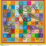 Snake Ladder Ludo Print & Play Stock Illustration   Illustration Of   Free Snakes And Ladders Printable
