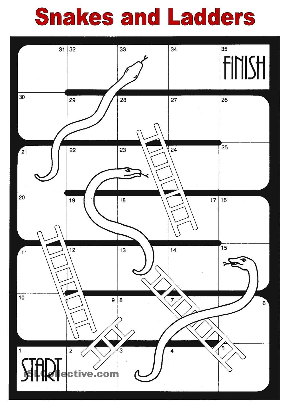 Snakes And Ladders | Speech-Hearing-Language (Professional Board - Free Snakes And Ladders Printable
