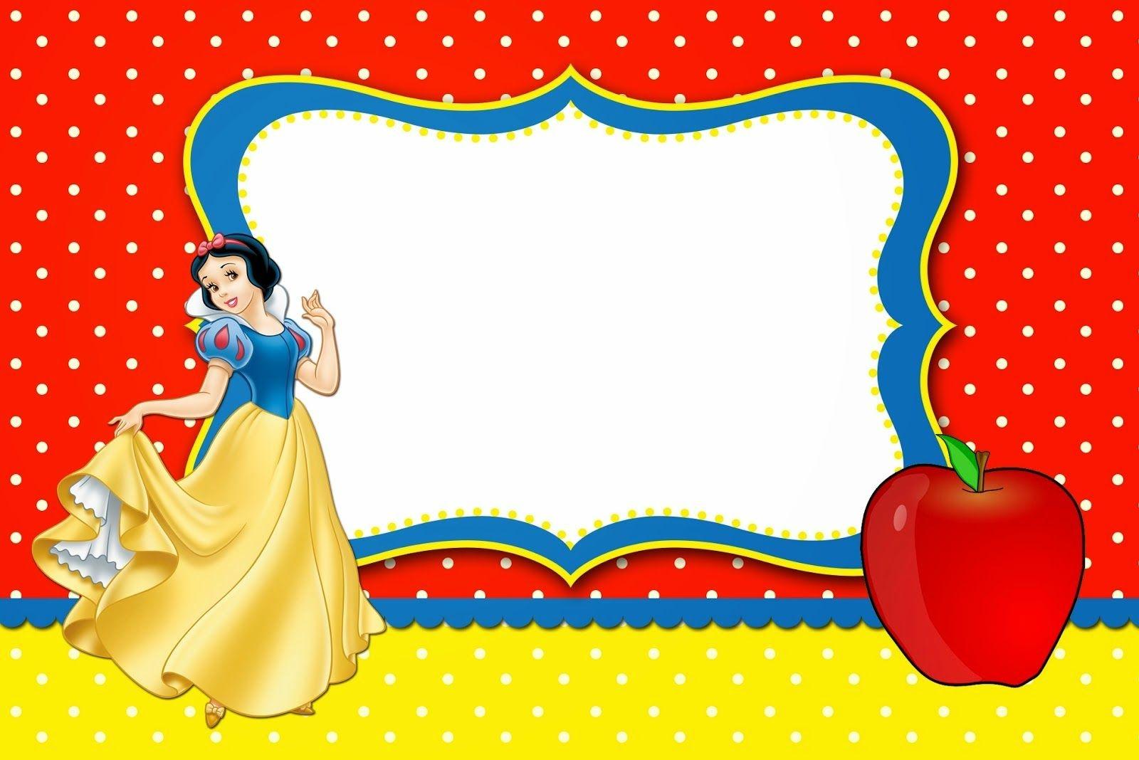 Snow White: Free Printable Invitations, Labels Or Cards. | Birthday - Snow White Invitations Free Printable