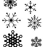 Snowflake Patterns (For Hot Glue Gun Snowflakes) I Think I Will Be   Snowflake Template Free Printable