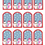 Snowman And Snow Woman Printable Christmas Gift Tags | Ld's | Gift   Free Printable Editable Christmas Gift Tags