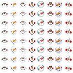 Snowman Faces Kiss Label Free Printable | Planner Stickers | Snowman   Free Printable Snowman Face Stencils