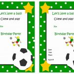 Soccer Free Printable Birthday Party Invitations | Birthday Party   Sports Birthday Cards Free Printable