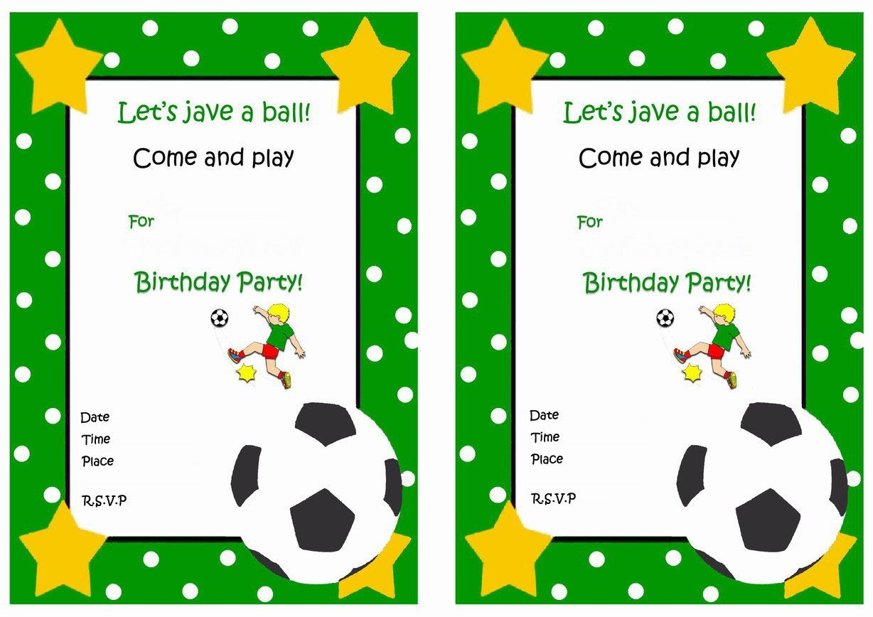 Soccer Free Printable Birthday Party Invitations | Birthday Party - Sports Birthday Cards Free Printable
