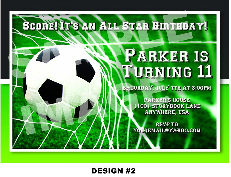 Soccer Themed Birthday Party Invitations | Birthday Party | Soccer - Free Printable Soccer Birthday Invitations