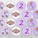Sofia The First Printable Cupcake Toppers Cakepins | Ideas   Sofia The First Cupcake Toppers Free Printable