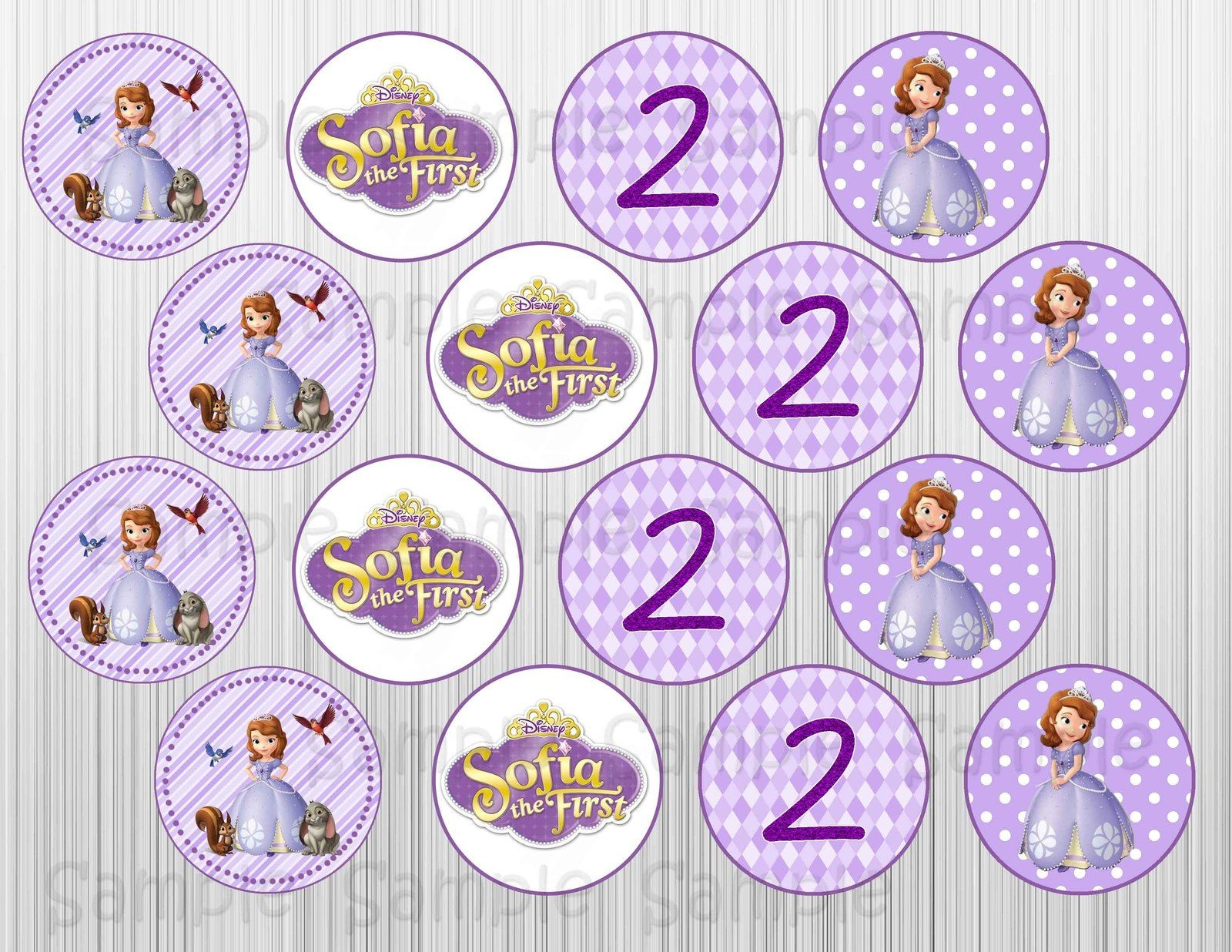 Sofia The First Printable Cupcake Toppers Cakepins | Ideas - Sofia The First Cupcake Toppers Free Printable
