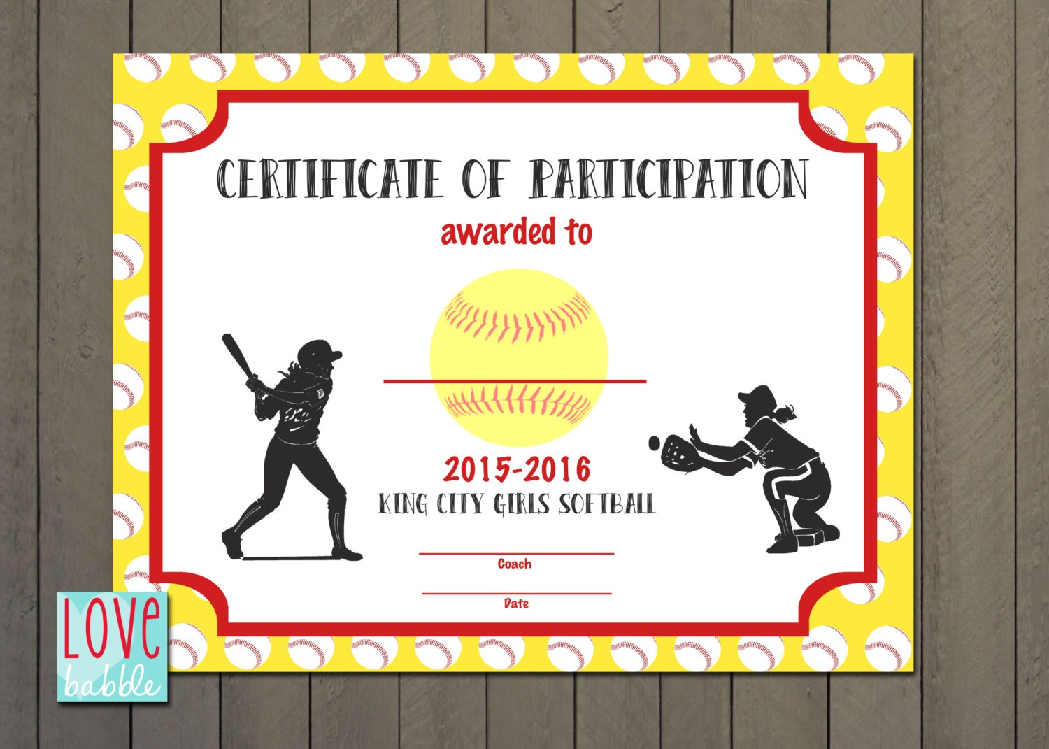 Softball Certificate Templates Free - Tutlin.psstech.co - Free Printable Softball Pictures