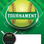 Softball Tournament Template Royalty Free Vector Image   Free Printable Softball Images
