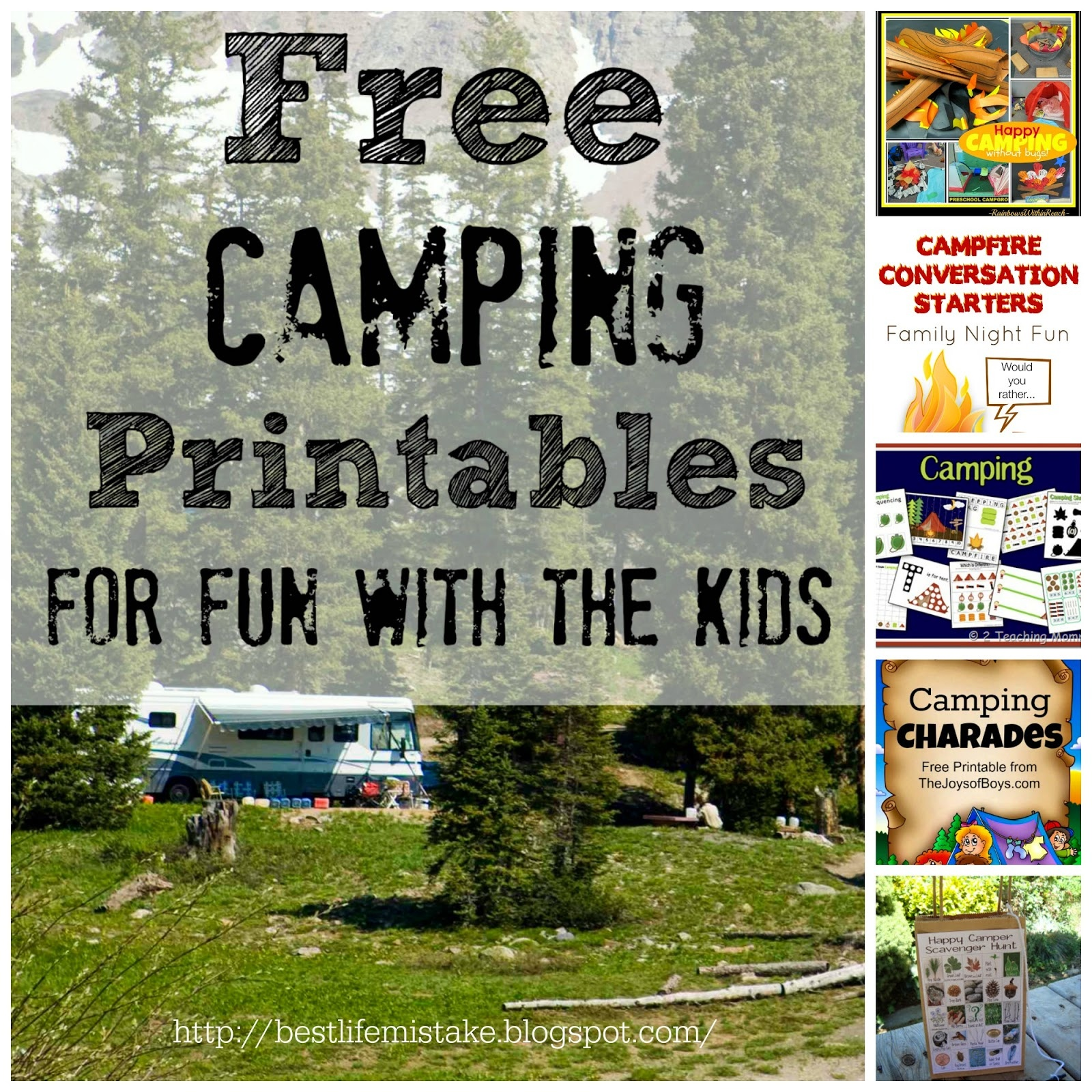 Some Of The Best Things In Life Are Mistakes: Free Camping - Free Camping Printables