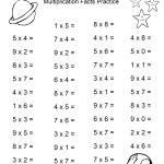 Space Theme   4Th Grade Math Practice Sheets   Multiplication Facts   Free Printable Math Practice Sheets