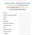 Spanish Greetings Matching #classroomiq #spanishworksheets   Free Printable Elementary Spanish Worksheets