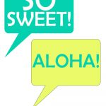 Speech Bubbles From Pineapple Printable Photo Booth Prop Set | Luau   Hawaiian Photo Booth Props Printable Free